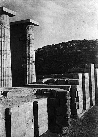 Pyramid of Djoser - Entry hall. Step Pyramid Complex, Saqqara.