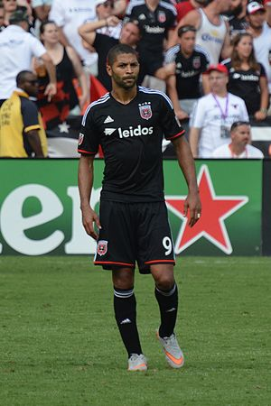 Álvaro Saborío - Saborío playing for D.C. United in 2015