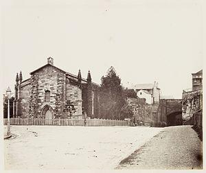 Garrison Church (Sydney) - Holy Trinity exterior in 1872