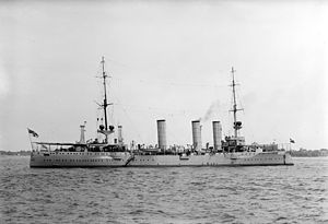 Königsberg-class cruiser (1905) - Stettin in the United States in 1912