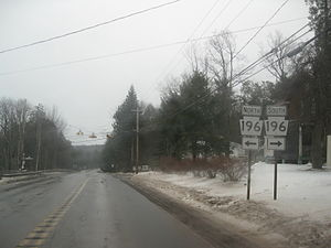 Pennsylvania Route 507 - PA 507 approaching the intersection with PA 196 in Dreher Township