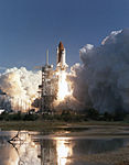 STS-42 lifted off from Kennedy Space Center.jpg