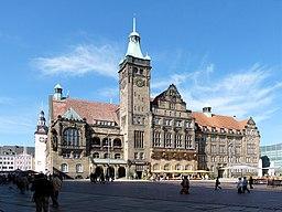 Sachsen, Chemnitz, Neues Rathaus, Einweihung 1911, Foto vom 06.09.2011