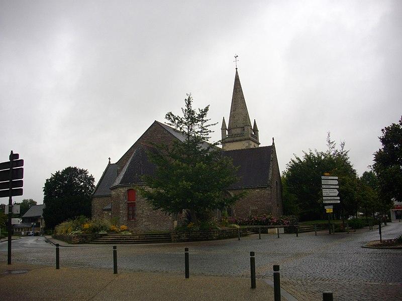 Apse of saints Gervasius and Protasius church in Saint-Avé (Morbihan, France)