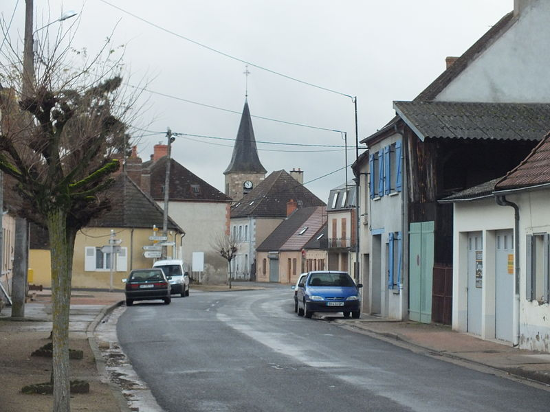 Saint-Gérand-de-Vauxis a village and commune in the Allier department of France, just off the N7 close to Vichy. Looking along the main street towards the church