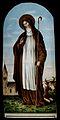 Saint Bridget of Ireland. Colour lithograph. Wellcome V0031746.jpg
