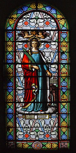 Saintes Eglise Saint Eutrope-Church window01