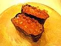 Salmon roe gunkanmaki of Moriya Sakanaya Uohei.jpg