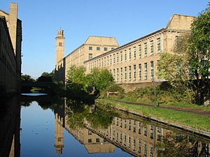 Titus Salt's mill in Saltaire, Bradford is an ...