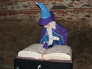 Magician (fantasy) - White-haired and white-bearded wizard with robes and hat