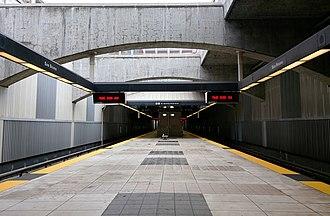 San Bruno station (BART) - San Bruno station platform in August 2015
