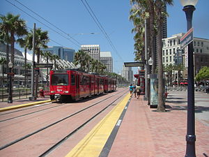 Gaslamp Quarter station - The station during the period as part of the Orange Line.