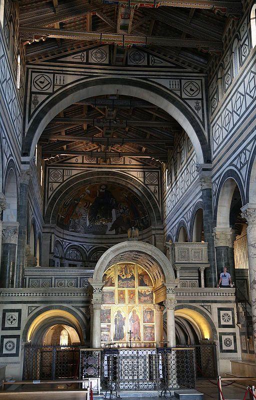 San Miniato al Monte Innenraum Florenz-03
