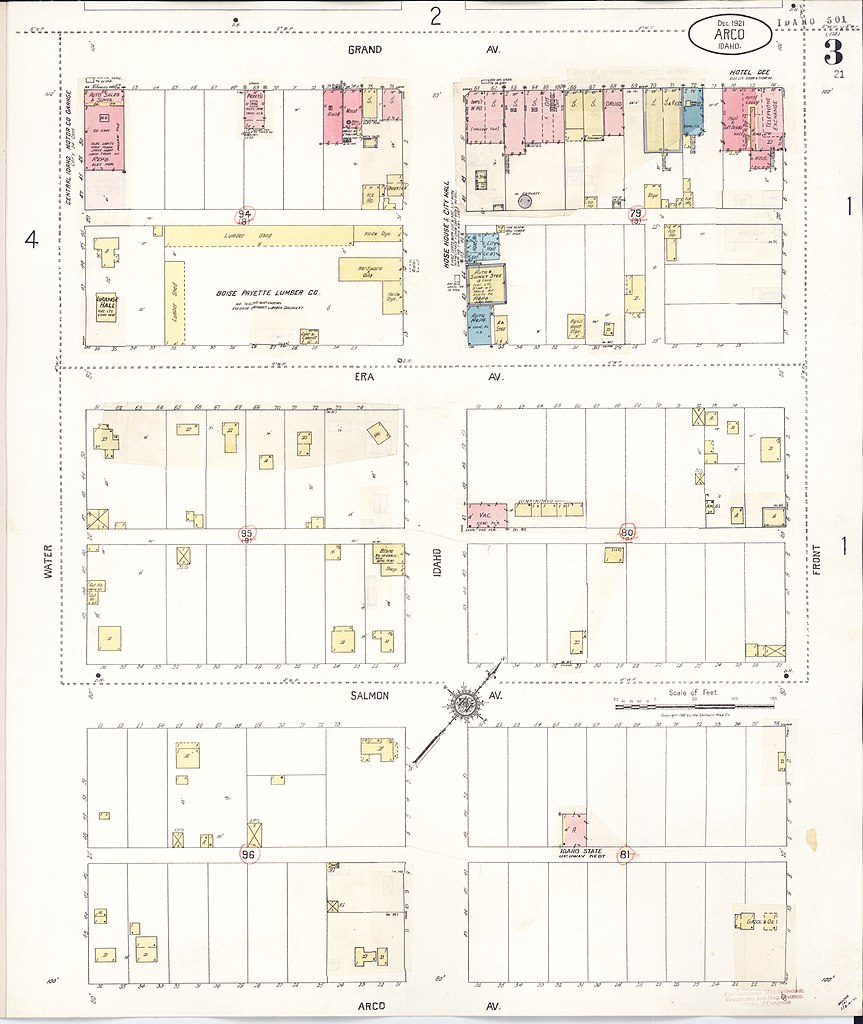 File Sanborn Fire Insurance Map From Arco Butte County Idaho Loc