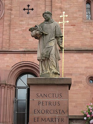 Marcellinus and Peter - Statue of Peter at Seligenstadt
