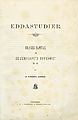 Sander, Eddastudier (1882) titelblad.jpg