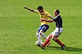Sandro and Scott Brown - Brazil vs Scotland Mar11.jpg