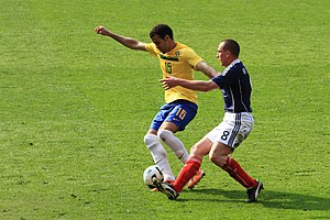 Sandro (footballer, born 1989) - Sandro playing for Brazil in a friendly against Scotland in March 2011