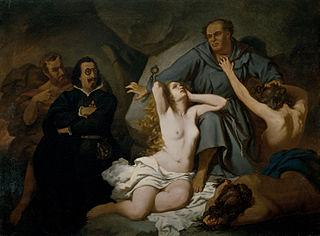 Lutero. Asunto tomado del ''Sueño del Infierno'' de Quevedo
