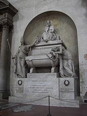 Cenotaph in Basilica of Santa Croce, Florence.