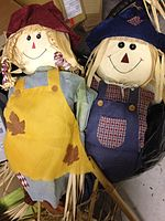 Sara and Hubie Scarecrows.JPG
