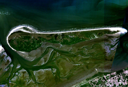 Satellite image of Ameland