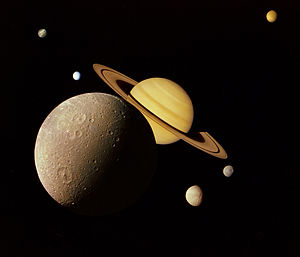 Saturn's moons in fiction - Saturn and its moons