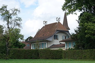castle in the municipality of Allmendingen of the canton of Bern in Switzerland