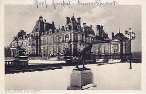 La Païva - Schloss Neudeck in winter, circa 1900