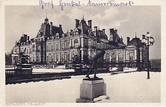 La Païva - Schloss Neudeck in winter, circa 1900
