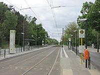 Schmöckwitz tram stop at Seeblick.jpg