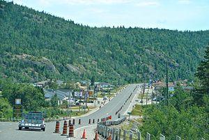 Schreiber, Ontario - Highway 17 through Schreiber