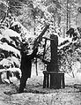 Schwarzlose MG M.07-12 géppuska légvédelmi beállításban. Fortepan 11813.jpg