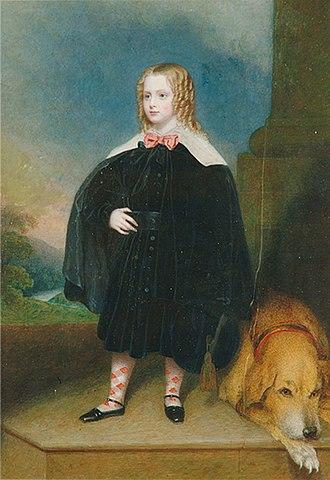 William John Newton - Scottish Child and Dog (1839) by William John Newton