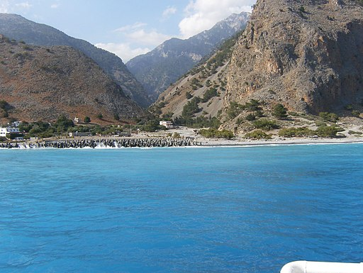 Sea side of the end of the Samaria Gorge