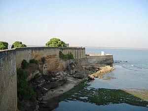Fort Diu - Full view of Diu Fort towards the sea
