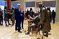 Secretary Kerry Looks at Life-Size Statues of Founding Fathers While Touring National Constitution Center in Philadelphia (20908264760).jpg