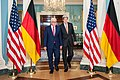 Secretary Kerry and German Foreign Minister Steinmeier Walk to Address Reporters in Washington (27836517903).jpg