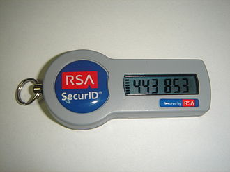 Multi-factor authentication - RSA SecurID token, an example of a disconnected token generator.