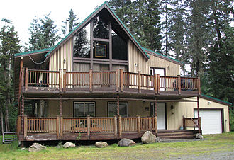 Girdwood, Anchorage - Ted Stevens' house is a fairly typical example of a house in Girdwood.