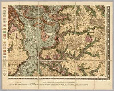 Service géologique des mines, Sud-Est - Paris et ses environs, 1890 - David Rumsey.jpg