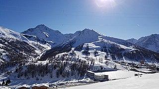 Via Lattea Region of the Italian and French Alps