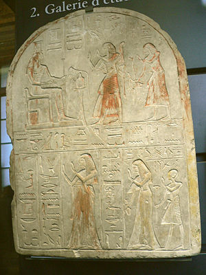 Setau - Stela depicting Setau and his wife Nofretmut