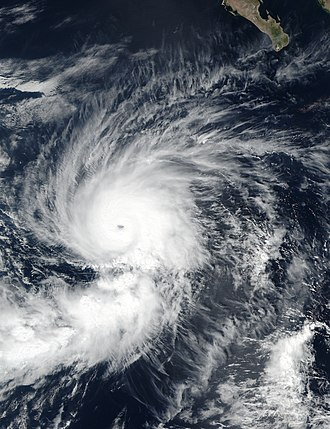 Tropical cyclone naming - Hurricane Seymour at peak intensity in October 2016