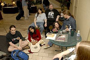 Science-fiction convention - Hanging out in the lobby