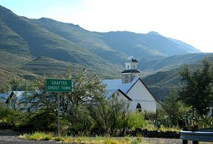 "Shafter, Texas - ""Shafter Ghost Town"", with Sacred Heart of Jesus Catholic Church"