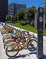 Shared bicycle rack near Milan Stazione Centrale.jpg