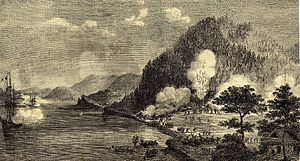 Shimonoseki Campaign - The French engagement at Shimonoseki, with the warships ''Tancrède'' and ''Dupleix'', under Captain Benjamin Jaurès. Le Monde illustré, October 10th, 1863.