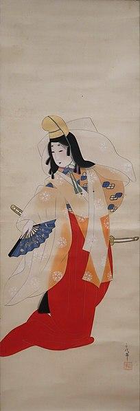 File:Shirabyōshi Dancer by Chiyōka, c. 1920s, Honolulu Museum of Art 2006.0164.JPG