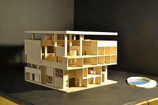 Villa Shodhan modernist villa located in Ahmedabad, India by architect Le Corbusier